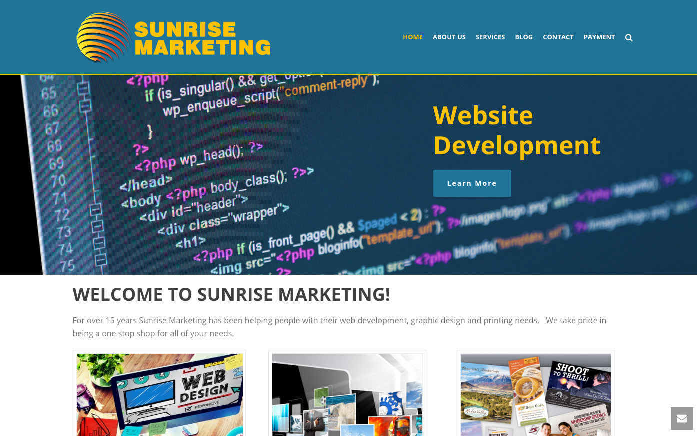 Web Development Through Sunrise Marketing